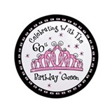 Tiara 60th Birthday Queen CW 3.5&quot; Button