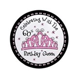 "Tiara 60th Birthday Queen CW 3.5"" Button"