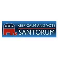 Cute Rick santorum Bumper Sticker