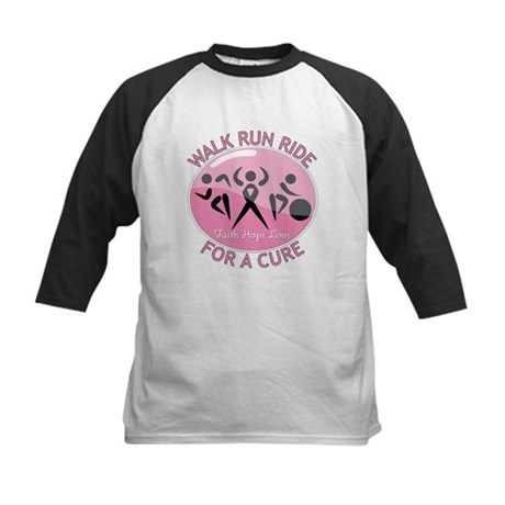 Breast Cancer Walk Run Ride Kids Baseball Jersey