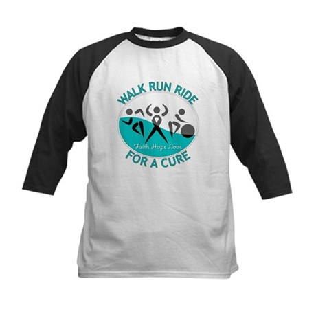 Cervical Cancer Walk Run Ride Kids Baseball Jersey