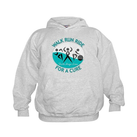 Cervical Cancer Walk Run Ride Kids Hoodie