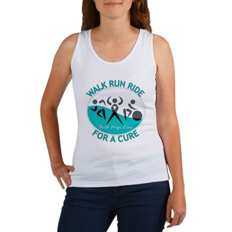 Cervical Cancer Walk Run Ride Women's Tank Top