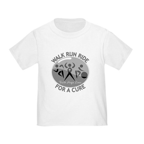 Brain Cancer Walk Run Ride Toddler T-Shirt