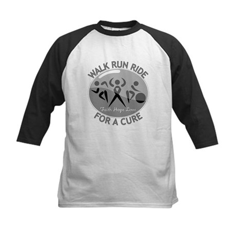 Brain Cancer Walk Run Ride Kids Baseball Jersey