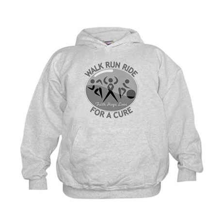 Brain Cancer Walk Run Ride Kids Hoodie