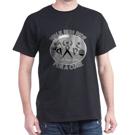 Brain Cancer Walk Run Ride Dark T-Shirt