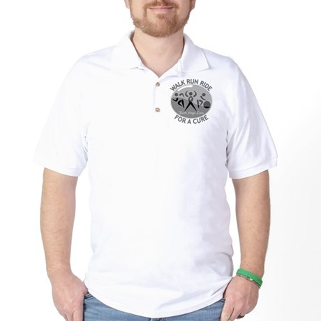 Brain Cancer Walk Run Ride Golf Shirt