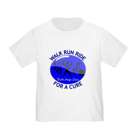 Colon Cancer Walk Run Ride Toddler T-Shirt