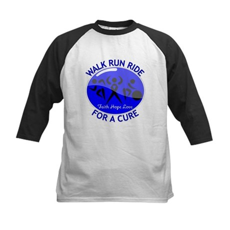 Colon Cancer Walk Run Ride Kids Baseball Jersey
