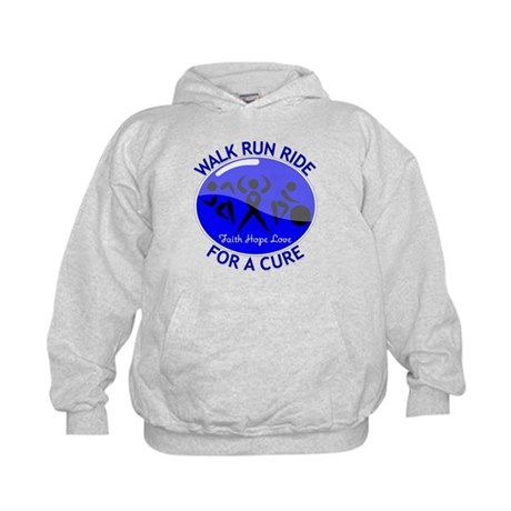 Colon Cancer Walk Run Ride Kids Hoodie