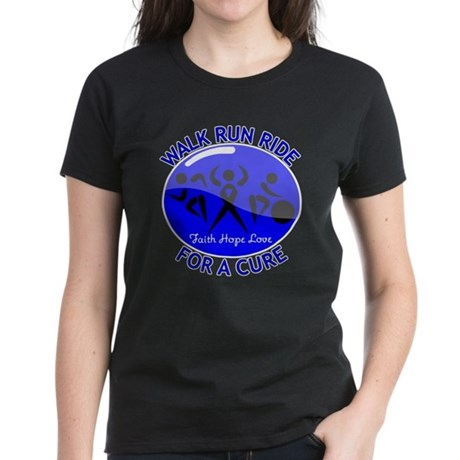 Colon Cancer Walk Run Ride Women's Dark T-Shirt
