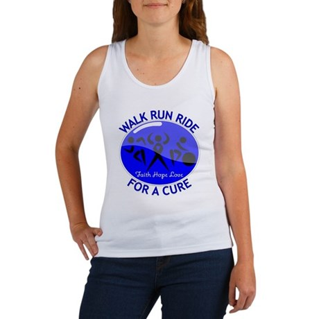 Colon Cancer Walk Run Ride Women's Tank Top