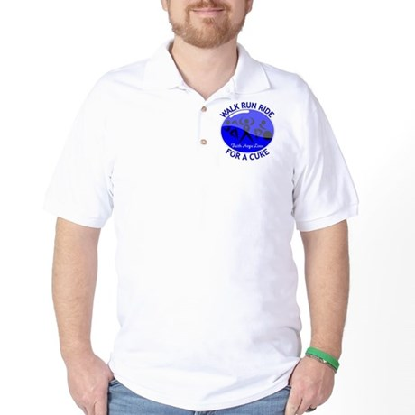 Colon Cancer Walk Run Ride Golf Shirt