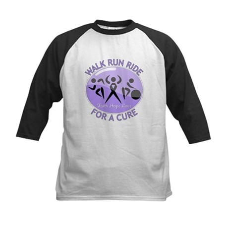 General Cancer Walk Run Ride Kids Baseball Jersey