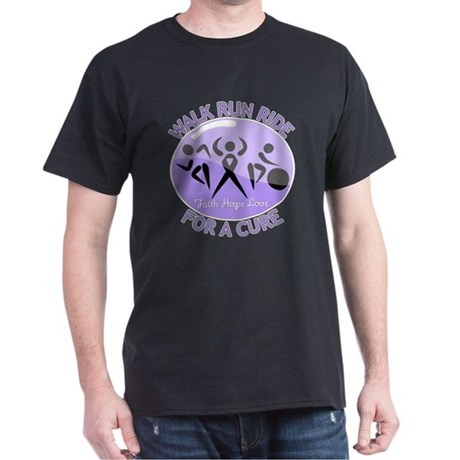 General Cancer Walk Run Ride Dark T-Shirt
