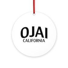 Ojai California Ornament (Round)
