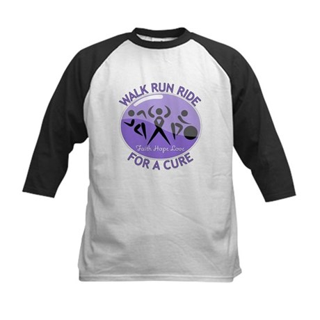 Hodgkins Lymphoma Walk Run Kids Baseball Jersey