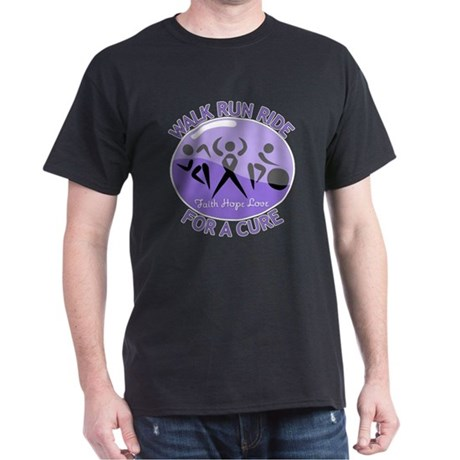 Hodgkins Lymphoma Walk Run Dark T-Shirt