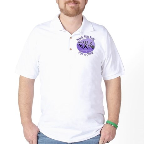 Hodgkins Lymphoma Walk Run Golf Shirt