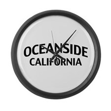 Oceanside California Large Wall Clock