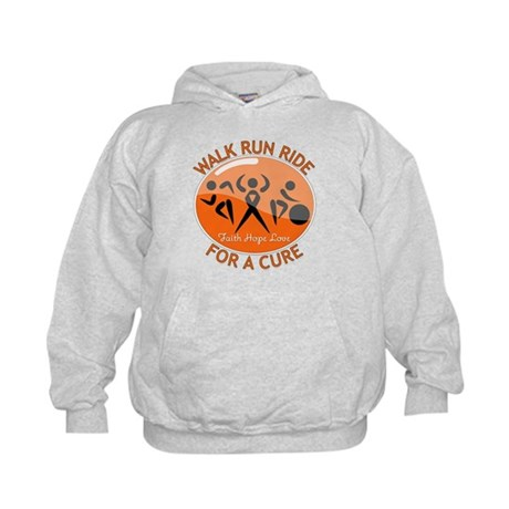 Leukemia Walk Run Ride Kids Hoodie