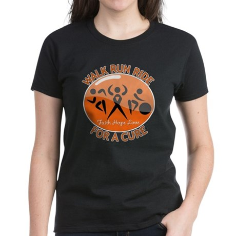 Leukemia Walk Run Ride Women's Dark T-Shirt