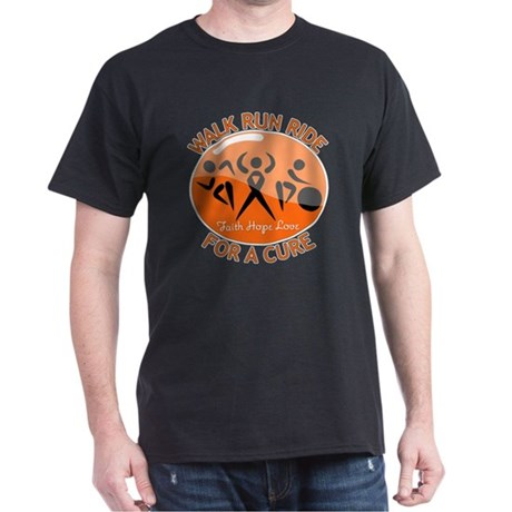 Leukemia Walk Run Ride Dark T-Shirt