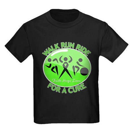 Lymphoma Walk Run Ride Kids Dark T-Shirt