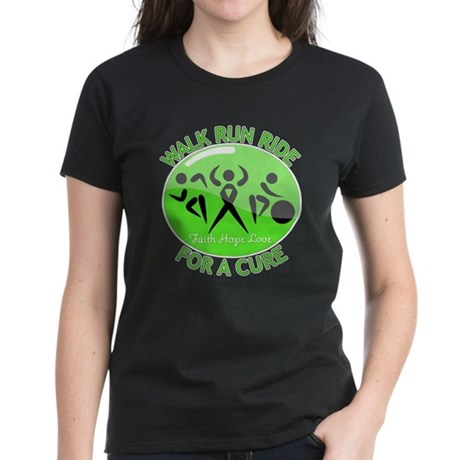 Lymphoma Walk Run Ride Women's Dark T-Shirt