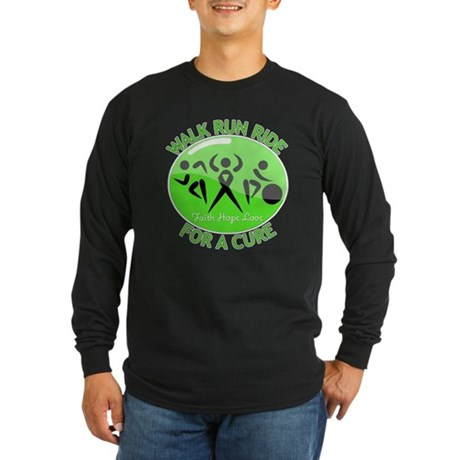 Lymphoma Walk Run Ride Long Sleeve Dark T-Shirt