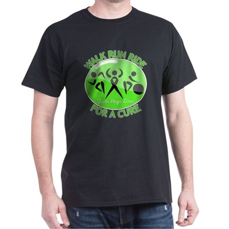Lymphoma Walk Run Ride Dark T-Shirt