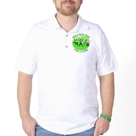 Lymphoma Walk Run Ride Golf Shirt