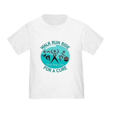 Ovarian Cancer Walk Run Ride Toddler T-Shirt
