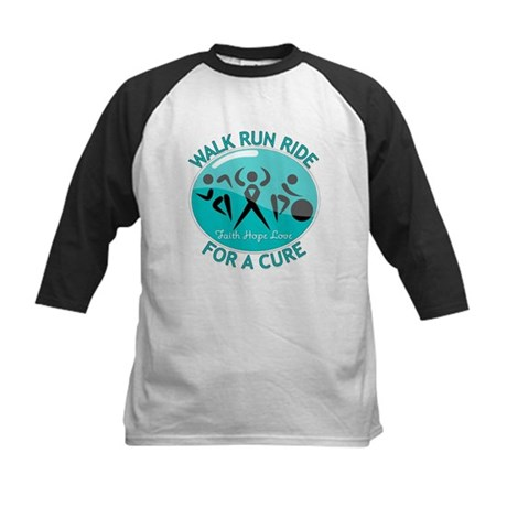 Ovarian Cancer Walk Run Ride Kids Baseball Jersey