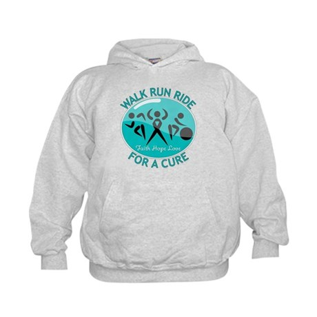 Ovarian Cancer Walk Run Ride Kids Hoodie