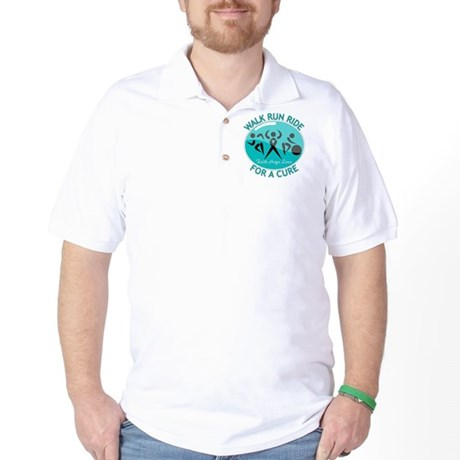 Ovarian Cancer Walk Run Ride Golf Shirt