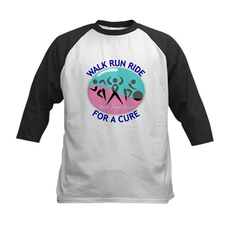 Thyroid Cancer Walk Run Ride Kids Baseball Jersey