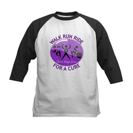 Pancreatic Cancer Walk Ride Kids Baseball Jersey