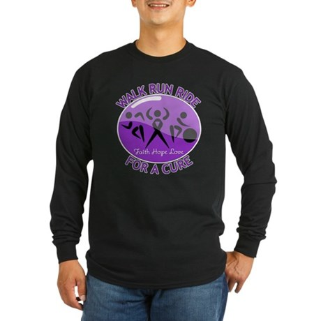 Pancreatic Cancer Walk Ride Long Sleeve Dark T-Shi