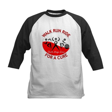 Oral Cancer Walk Run Ride Kids Baseball Jersey