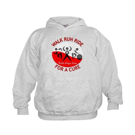 Oral Cancer Walk Run Ride Kids Hoodie