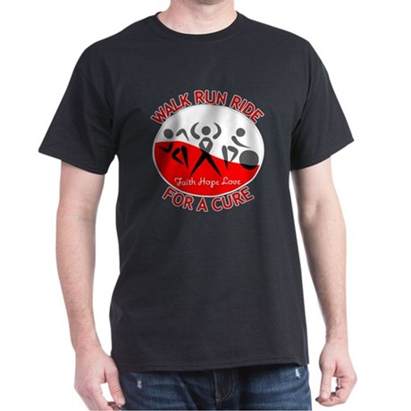 Oral Cancer Walk Run Ride Dark T-Shirt