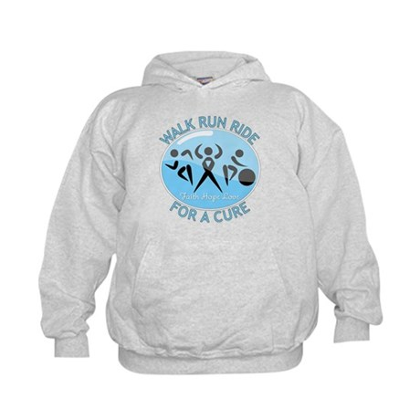 Prostate Cancer Walk Run Ride Kids Hoodie