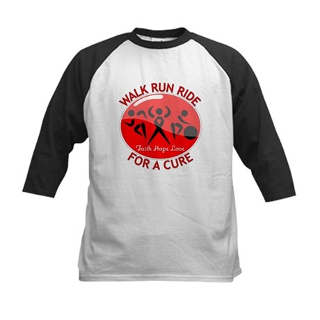 Blood Cancer Walk Run Ride Kids Baseball Jersey