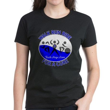 ALS Walk Run Ride Women's Dark T-Shirt