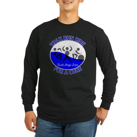 ALS Walk Run Ride Long Sleeve Dark T-Shirt