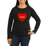 iHeart Beer Women's Long Sleeve Dark T-Shirt