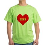 iHeart Beer Green T-Shirt