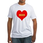 iHeart Beer Fitted T-Shirt